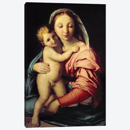 Madonna and Child  Canvas Print #BMN10498} by Il Sassoferrato Canvas Wall Art