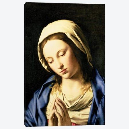 Madonna at Prayer  Canvas Print #BMN10499} by Il Sassoferrato Canvas Art