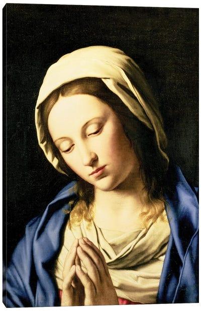 Madonna at Prayer  Canvas Art Print