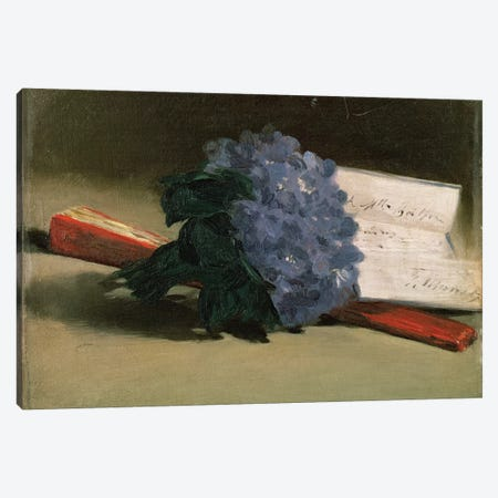 Bouquet of Violets, 1872  Canvas Print #BMN1049} by Edouard Manet Canvas Artwork