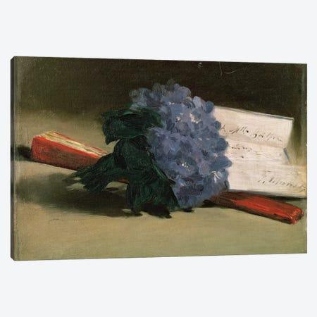 Bouquet of Violets, 1872  Canvas Print #BMN1049} by Edouard Manet Canvas Artwork
