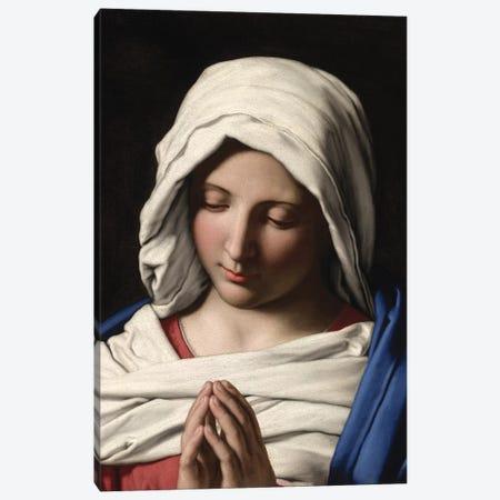 Madonna in Prayer, c.1640-50  Canvas Print #BMN10500} by Il Sassoferrato Canvas Art
