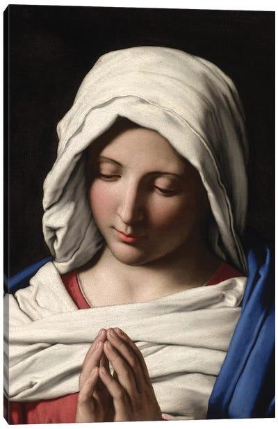 Madonna in Prayer, c.1640-50  Canvas Art Print