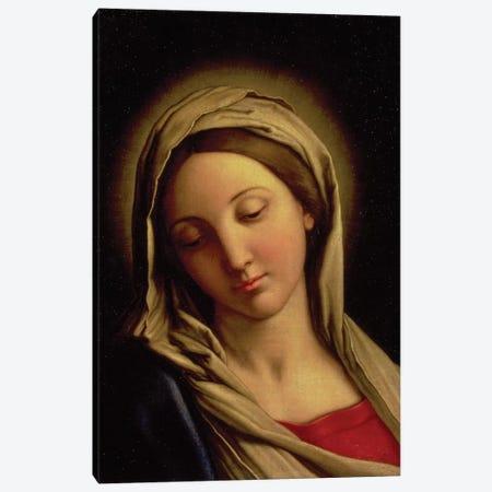 The Madonna Canvas Print #BMN10501} by Il Sassoferrato Canvas Artwork