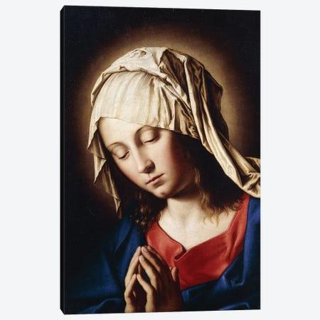 The Madonna in Prayer Canvas Print #BMN10504} by Il Sassoferrato Art Print
