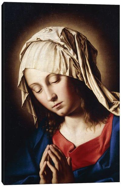 The Madonna in Prayer Canvas Art Print