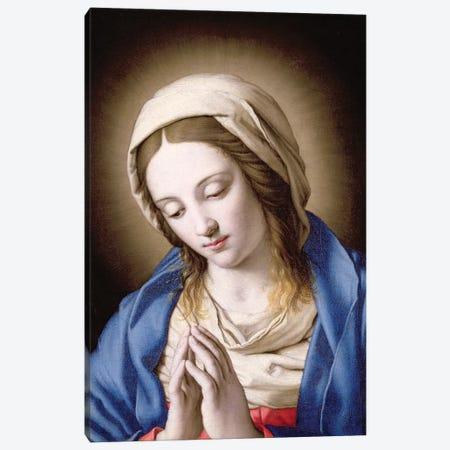 The Madonna Praying Canvas Print #BMN10505} by Il Sassoferrato Canvas Print