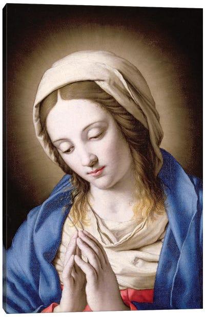 The Madonna Praying Canvas Art Print