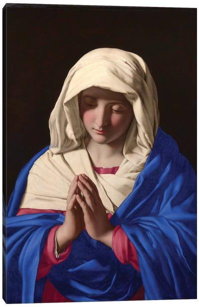 The Virgin in Prayer, 1640-50  Canvas Art Print