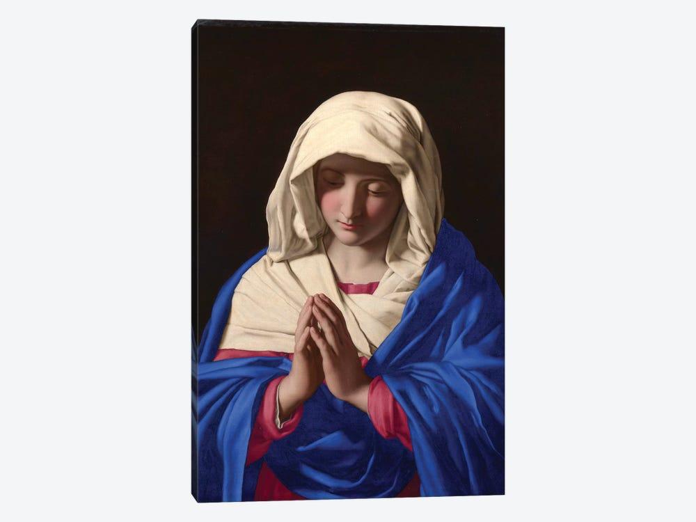 The Virgin in Prayer, 1640-50  by Il Sassoferrato 1-piece Canvas Artwork