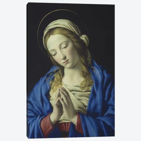 The Virgin in Prayer, c.1660  Canvas Print #BMN10509} by Il Sassoferrato Canvas Artwork