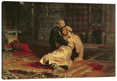 Ivan the Terrible and his Son on the 16th November, 1581, 1885  Canvas Art Print