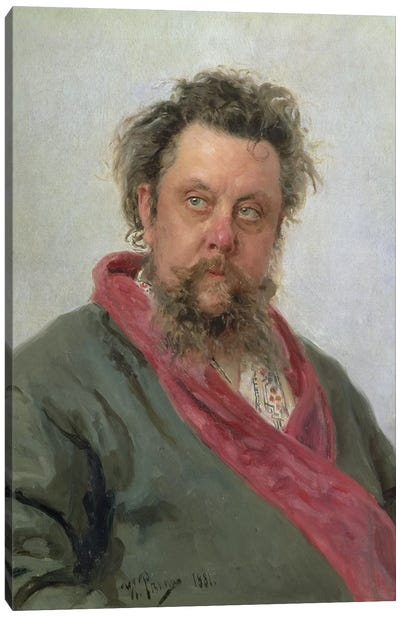 Portrait of Modest Petrovich Moussorgsky  1881  Canvas Art Print