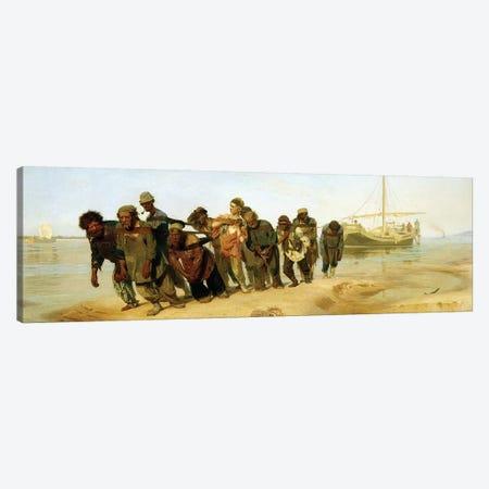 The Boatmen on the Volga, 1870-73  Canvas Print #BMN10516} by Ilya Efimovich Repin Canvas Wall Art