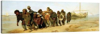 The Boatmen on the Volga, 1870-73  Canvas Art Print