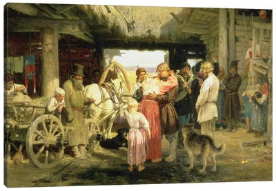 The Leave-Taking of the New Recruit, 1879  Canvas Art Print