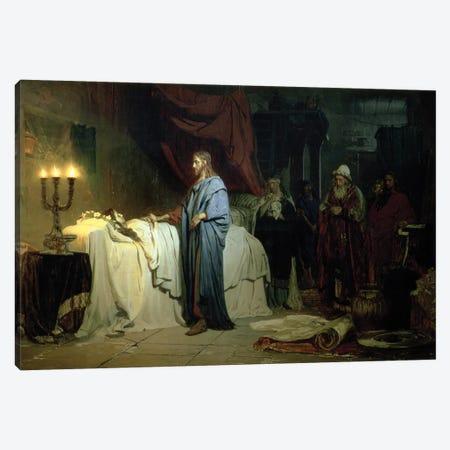 The Raising of Jairus's Daughter, 1871  Canvas Print #BMN10519} by Ilya Efimovich Repin Canvas Art Print