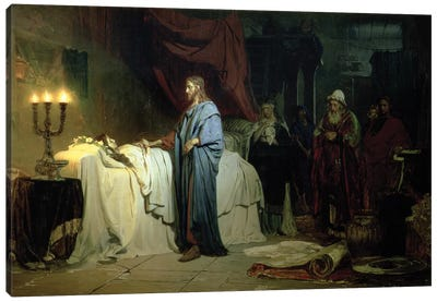 The Raising of Jairus's Daughter, 1871  Canvas Art Print
