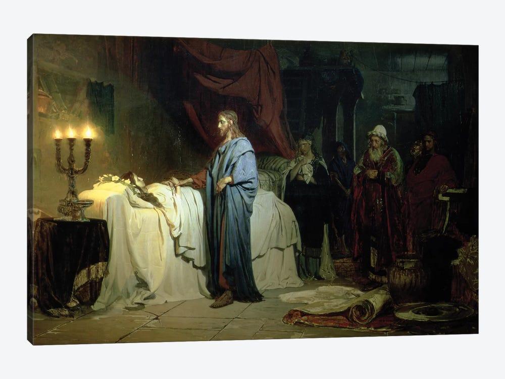 The Raising of Jairus's Daughter, 1871  by Ilya Efimovich Repin 1-piece Canvas Wall Art