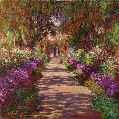 a pathway in monet 39 s garden giverny 1902 canv claude monet icanvas. Black Bedroom Furniture Sets. Home Design Ideas