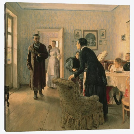 Unexpected, 1884-88  Canvas Print #BMN10520} by Ilya Efimovich Repin Canvas Wall Art