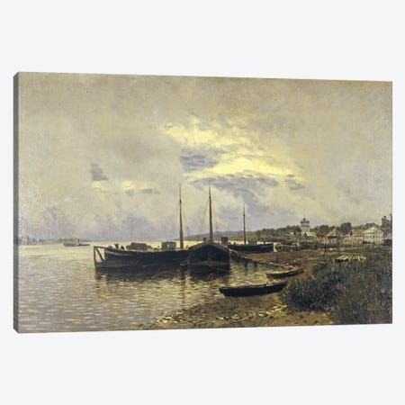 After Rain in Ples, 1889 Canvas Print #BMN10521} by Isaak Ilyich Levitan Canvas Wall Art