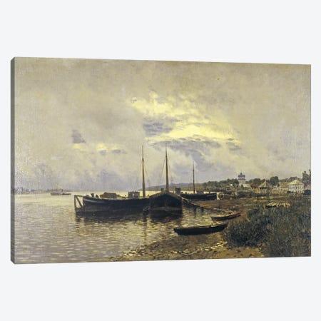 After Rain in Ples, 1889 Canvas Print #BMN10521} by Isaak Ilyich Levitan Canvas Wall Art