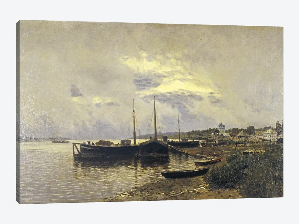 After Rain in Ples, 1889 by Isaak Ilyich Levitan 1-piece Canvas Art Print