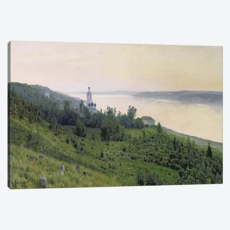 Cold Landscape, 1889 Canvas Print #BMN10522} by Isaak Ilyich Levitan Canvas Artwork