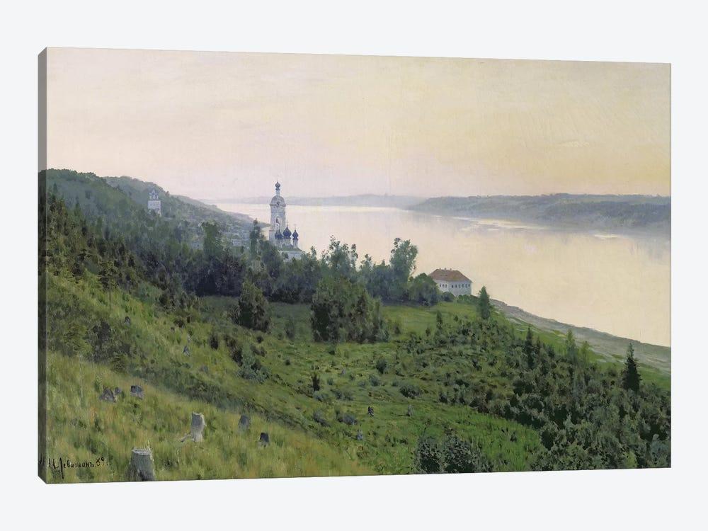 Cold Landscape, 1889 by Isaak Ilyich Levitan 1-piece Canvas Artwork