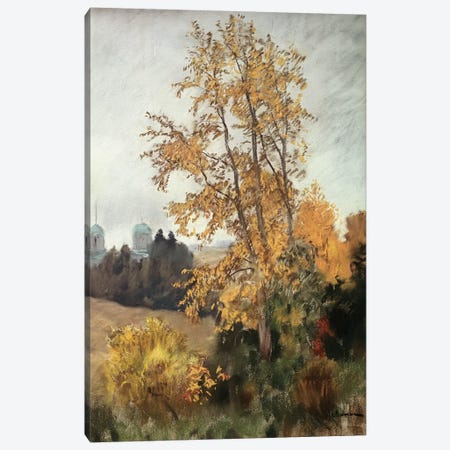 The Fall  Canvas Print #BMN10523} by Isaak Ilyich Levitan Canvas Artwork