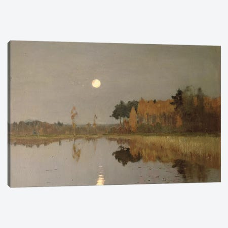 The Twilight Moon, 1899  Canvas Print #BMN10524} by Isaak Ilyich Levitan Canvas Art Print
