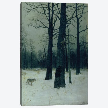 Wood in Winter, 1885  Canvas Print #BMN10525} by Isaak Ilyich Levitan Canvas Art Print