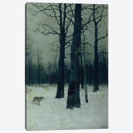 Wood in Winter, 1885  Canvas Print #BMN10525} by Isaak Ilyich Levitan Canvas Art Print