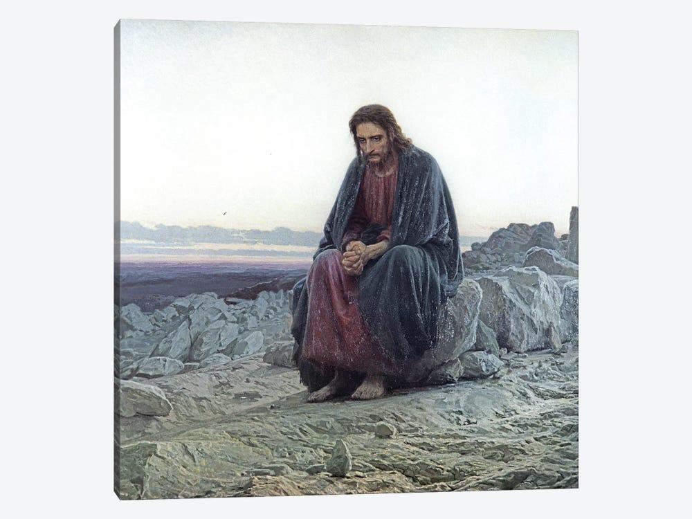 Christ in the Wilderness, 1873  by Ivan Nikolaevich Kramskoy 1-piece Canvas Art