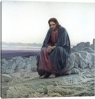Christ in the Wilderness, 1873  Canvas Art Print