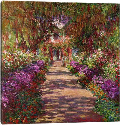 A Pathway in Monet's Garden, Giverny, 1902 Canvas Art Print