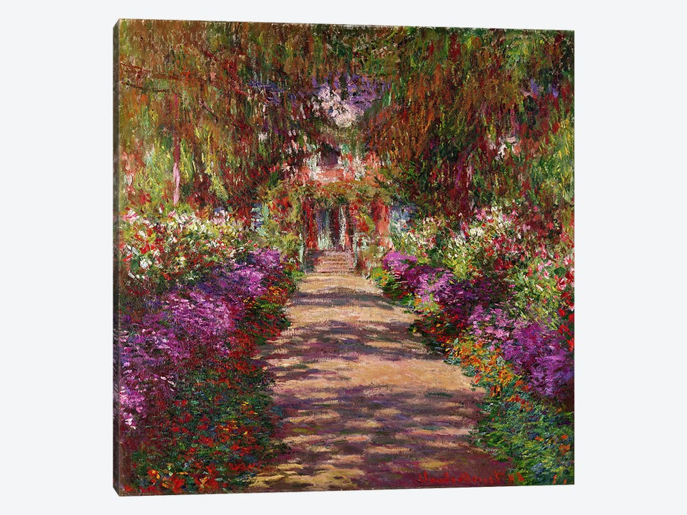 A Pathway in Monet's Garden, Giverny, 1902 by Claude Monet 1-piece Canvas Wall Art