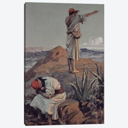 Elijah from Mount Carmel Sees a Cloud Afar Off  Canvas Print #BMN10531} by James Jacques Joseph Tissot Art Print