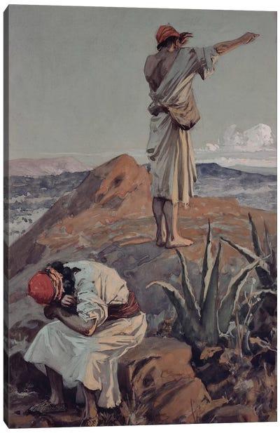 Elijah from Mount Carmel Sees a Cloud Afar Off  Canvas Art Print