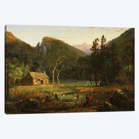 Eagle Cliff, Franconia Notch, New Hampshire, 1858  Canvas Print #BMN10535} by Jasper Francis Cropsey Canvas Wall Art