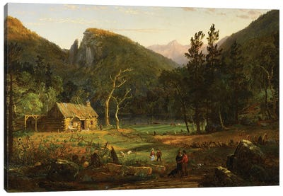 Eagle Cliff, Franconia Notch, New Hampshire, 1858  Canvas Art Print