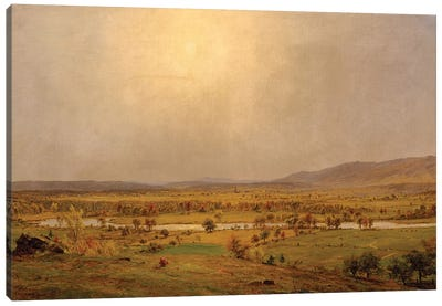 Pompton Plains, New Jersey, 1867  Canvas Art Print