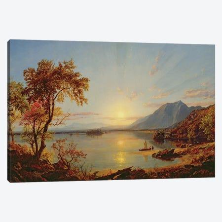 Sunset, Lake George, New York, 1867  Canvas Print #BMN10539} by Jasper Francis Cropsey Canvas Art Print