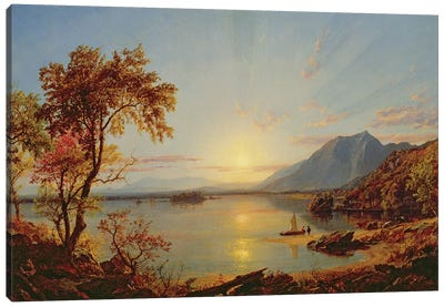 Sunset, Lake George, New York, 1867  Canvas Art Print