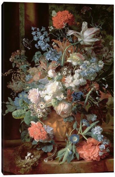 Bouquet of Flowers in a Landscape Canvas Print #BMN1053