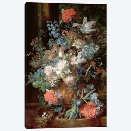 Bouquet of Flowers in a Landscape Canvas Print #BMN1053} by Jan van Huysum Canvas Print