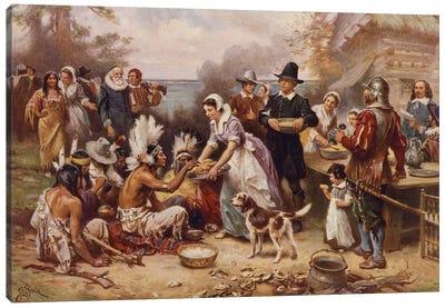 The first Thanksgiving, c.1930  Canvas Art Print