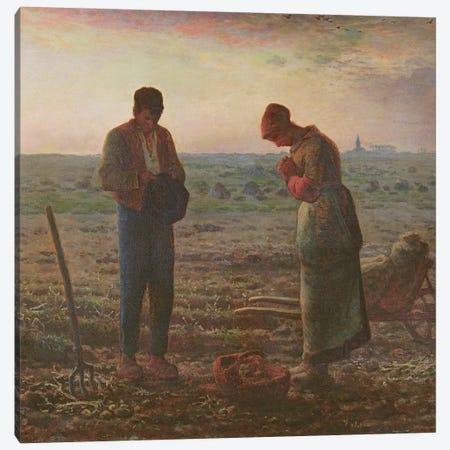 The Angelus, 1857-59  Canvas Print #BMN10544} by Jean-Francois Millet Canvas Print