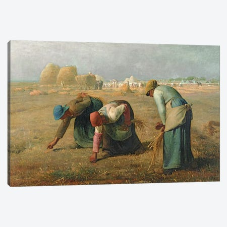 The Gleaners, 1857  Canvas Print #BMN10545} by Jean-Francois Millet Art Print